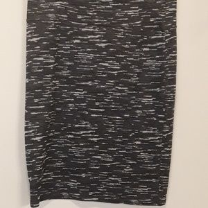 Lularoe Cassie Pencil Skirt LLR Large L Grays